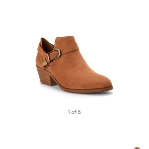 Shoes - NWT TIME & TRU OPEN SIDE  BOOTS W\ BUCKLE